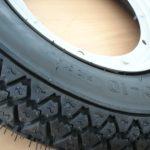 Vespa Vee Rubber S83 Reifen Felge Schlauch komplett 3,00-10 Zoll