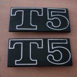 Vespa T5 Schriftzug 2 Stück