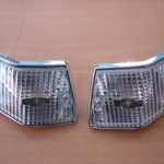 Vespa PX Blinker chrom hinten 1 paar Glas transparent