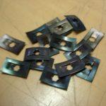 Vespa Schriftzug Sicherungsplättchen 3mm Bolzen 1 Stück