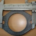 Auspuffdichtung mit Lochabstand 60 mm