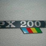 Schriftzug PX 200 Arcobaleno Backe
