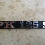 Vespa Schriftzug PK 125 S PK125S
