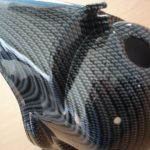 Vespa Zylinder Abdeckung CARBON look PX 125 Sprint VNB VBB