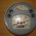Tacho orig. Piaggio Vespa PX 125 150 200 grau-weiss